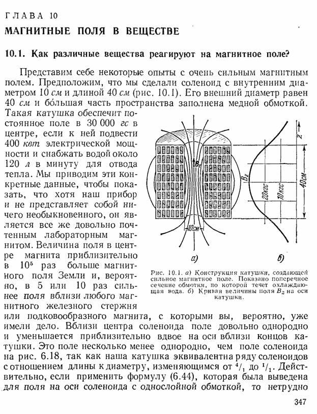 о величине магнитного поля